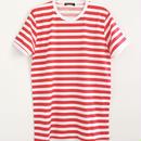 RUN & FLY英国製ボーダーTシャツ半袖〈ブラック&ホワイト/レッド&ホワイト〉