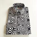 MADCAPオプアートボタンダウンシャツ