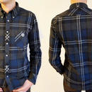ネバートラスト British Check Flannnel L/S BD