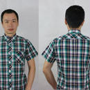 ネバートラストTRAD CHECK S/S BD SHIRT