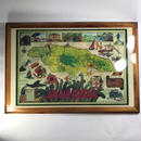ジャマイカ直輸入!  地図壁掛け 木製