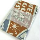 再入荷!注染てぬぐいCHILL『レコードてぬぐい 茶金×ブルーグレー×草色 designed by OKINO FLYER』MADE IN JAPAN