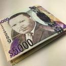 再入荷!ジャマイカ直輸入!ジャマイカ5000ドルがプリントされた財布