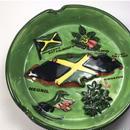 ジャマイカ直輸入! ジャマイカ国旗、島、アキ、ハミングバード  灰皿