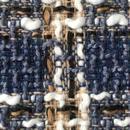 ツイード生地  139  ブルー