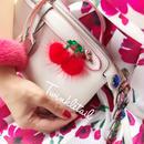 mink fur cherry pierces&earrings♡ミンクファーチェリーピアスイヤリング