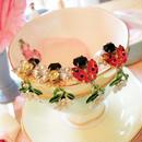Ladybug&Bee daisy pierce♡天道虫と蜂のデイジーピアス♡送料無料