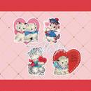 №47 Valentine lovelycats sticker