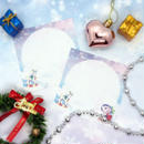 №28 White Xmas animals memo