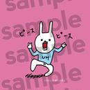 """[ud_011] DLデータ スマホ用壁紙 """"UH THE RABBIT"""" 【ピースピース】pink"""