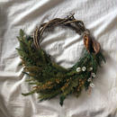 Forest rich half  wreath