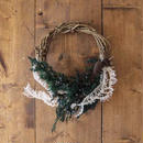 Forest angel half wreath