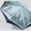 FS2160 高級折傘 USED美品 ほぐし織 NY 日本製 55㎝ 折りたたみ傘 中古ブランド