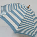 FS1732 cocca コッカ 晴雨兼用折りたたみ日傘 USED超美品 Shima-uma柄 ボーダー UV 遮光 遮熱 50cm 中古 ブランド