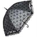 二重張りフリルの傘 50cm/長傘 晴雨兼用 [OST44N/W/BE]
