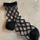 East End Highlanders (Transparent Mesh Socks)ブラック