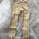 ZoZIO  stripe  leggings   GOLD  レディースsize