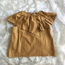 folk made  flare  blouse  ブラウンカーキ Lsize