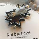 kai bai bow! いびつ星ヘアクリップ