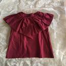 folk made  flare  blouse  ワイン Lsize