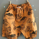 folk  made  ☆ fish print  short  pants