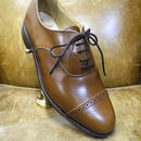 18.86 Rejected Tricker's / Brown / Punched Cap Toe Shoes / Leather Sole / Size 7 half , 4fitting