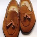 52 Rejected Tricker's / Brown Suede Tassel Slip On Shoes / Leather Single Sole / Size 8