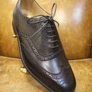 18.82 Rejected Tricker's / Dark Brown / Full Brogue Shoes / Leather Sole / Size 7 half