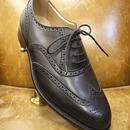 18.78 Rejected Tricker's / Dark Brown / Full Brogue Shoes / Leather Sole / Size 8