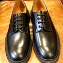 17.34 Rejected Tricker's / Black / Plain Toe Country Shoes / Leather W Sole / Size 9