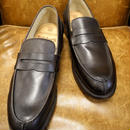18.37 Rejected Tricker's / Dark Brown / Unlined Loafers / Leather Sole / Size 7