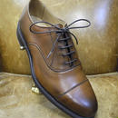 18.92 Rejected Tricker's / Brown / Cap Toe Oxford Shoes / Dainite Sole / Size 6 half