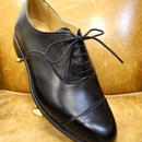 18.95 Rejected Tricker's / Black / Cap Toe Oxford Shoes / Leather Sole / Size 9