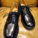 18.104 Rejected Tricker's / Black / Plain Toe Shoes / Leather Sole / Size 6 half