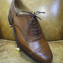 18.80 Rejected Tricker's / Brown / Semi Brogue Shoes / Leather Sole / Size 7