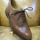 18.81 Rejected Tricker's / Brown / Semi Brogue Shoes / Leather Sole
