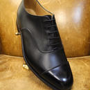 18.93 Rejected Tricker's / Black / Cap Toe Oxford Shoes / Leather Sole/Size 8