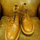 18.09 Rejected Tricker's / Light Brown  / Cap Toe Boots / Dainite W Sole / Size 6 half