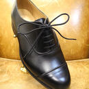 18.94 Rejected Tricker's / Black / Cap Toe Oxford Shoes / Leather Sole / Size 7,6fitting