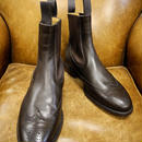 18.17 Rejected Tricker's / Dark Brown / Side Gore Brogue Boots / Leather Sole / Size 7 half