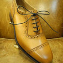 18.96 Rejected Tricker's / Light Brown / Punched Cap Toe Adelaide Shoes / Leather Sole / Size 7 half