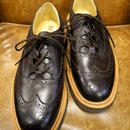 18.33 Rejected Tricker's / Brown / Thistle Gillie Shoes / Rubber Unit Sole / Size 6 half