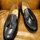 18.48 Rejected Tricker's / Black / Tassel Slip On Shoes / Leather Sole