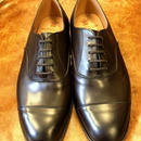 17.62 Rejected Tricker's / Brown / Cap Toe Shoes / Leather Sole / Size 7 half