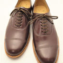 Sanders  / Military Cap Oxford Shoes / Burgundy