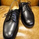 18.102 Rejected Tricker's / Black / Plain Toe Shoes / Leather Sole / Size 8 half
