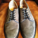 17.41 Rejected Tricker's / Brown Suede / Plane Toe Shoes / Leather Sole