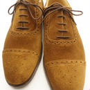 New & Lingwood / Semi Brogue Shoes / Tobacco Suede
