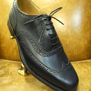 18.76 Rejected Tricker's / Navy / Full Brogue Shoes / Leather Sole 2Tone