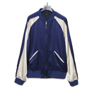 BLUE VELVET Back Embroidered Signature Souvenir Jacket